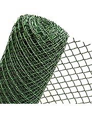 1,5m² MASCHENGWEBE in 1,5m breedte kunststofhek heuvelkant montage tuinhek kunststof gaas 50mm donkergroen (METERWARE) RO5/150HD ...