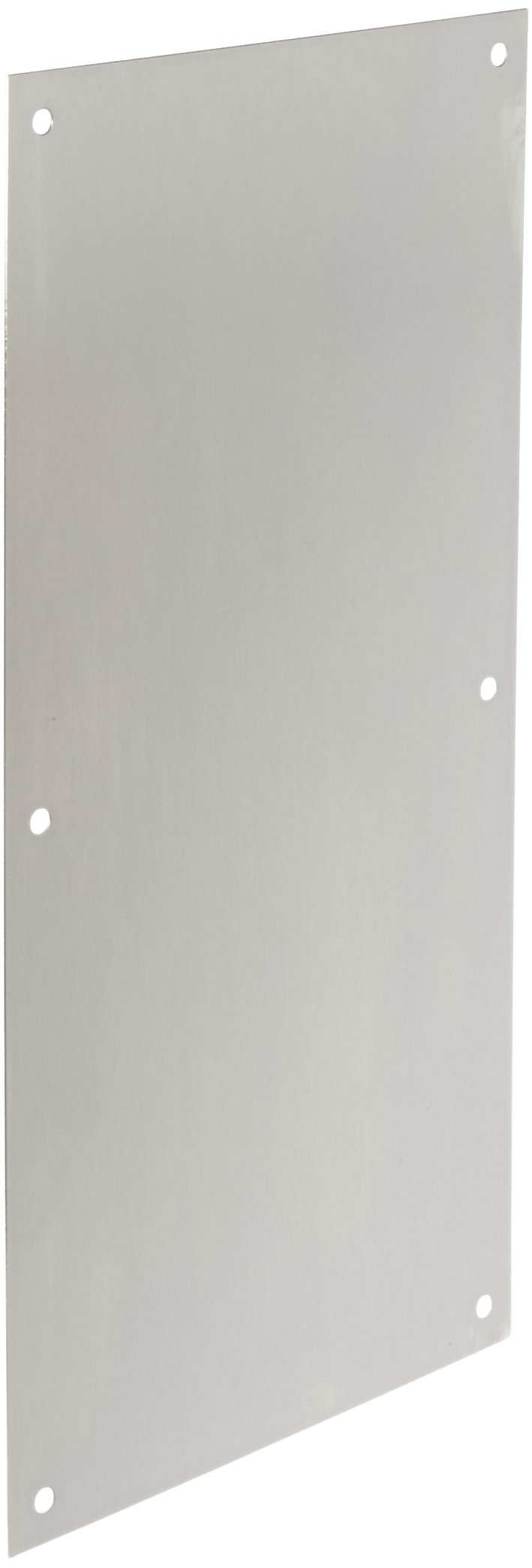 Rockwood 70F.32D Stainless Steel Standard Push Plate, Four Beveled Edges, 16'' Height x 8'' Width x 0.050'' Thick, Satin Finish