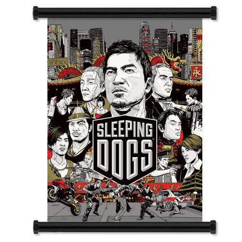 Sleeping Dogs Game Fabric Wall Scroll Poster