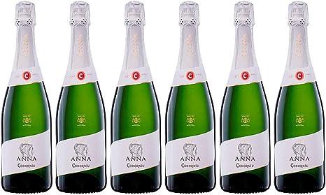 Codorníu | Anna de Codorníu Cava Brut | Medalla de Oro Concours Mondial de Bruxelles | Caja de 6 botellas de 75 cl: Amazon.es: Alimentación y bebidas