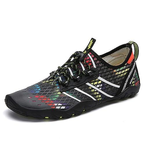 Zapatos de Agua Hombre Mujer Zapatillas para Playa Surf Natación Calzado Piscina Secado Rápido Escarpines: Amazon.es: Zapatos y complementos