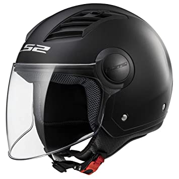 LS2 Casco Moto of562 Airflow, Matt black Long, ...