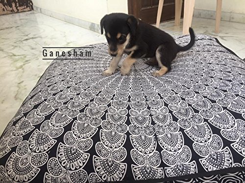 Huge mandala tapestry Dog or Cat bed, mandala cushion cover, boho floor pillow, bohemian floor cushion, boho seating, boho decor, boho dog bed (Christmas Decorative)