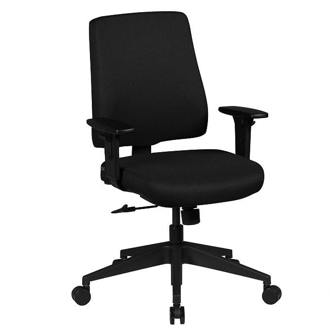 Bürostuhl Ergonomisch MATHIAS 8h Stoff Sitz Schwarz mit