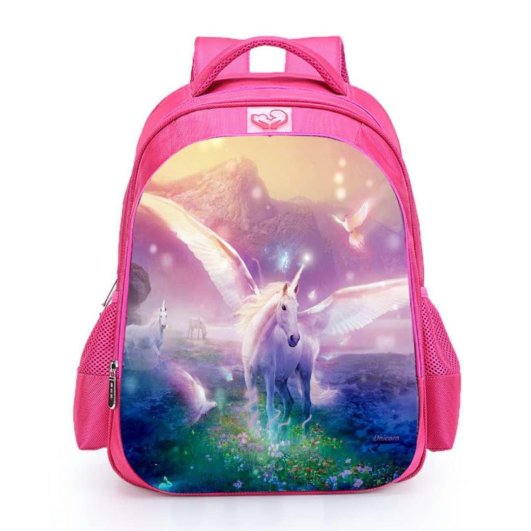 Runhome Einhorn Student School Rucksä cke, Junge und Mä dchen Mode Unicorn Geschenke Regenbogen Taschen, Unicorn Bedruckte Rucksä cke Lustige Reise Gepä ck Lä ssige Daypacks