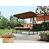 Garden Winds LCM650B Walmart's Sand Dune 3-Seater Swing, Brown Replacement Canopy Review