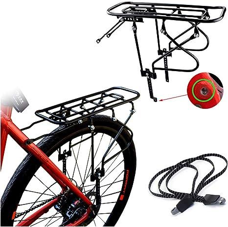 HAMHIN El Marco del Asiento Trasero de la Bicicleta de montaña Puede Transportar el Taburete de Bicicleta para Adultos Asiento para niños 16-26