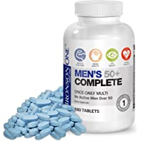 Bronson ONE Daily Mens 50+ Complete Multivitamin Multimineral, 180 Tablets
