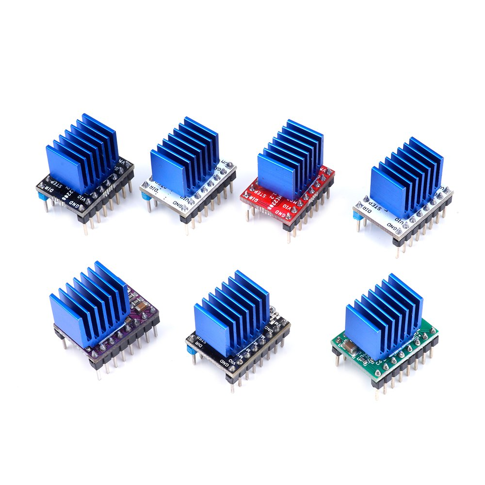 Black or Blue 4PCS TMC2100 Stepper Motor Driver Cooling Heatsink with Back Glue for 3D Printer Color : Blue HYY-YY Computer Accessories