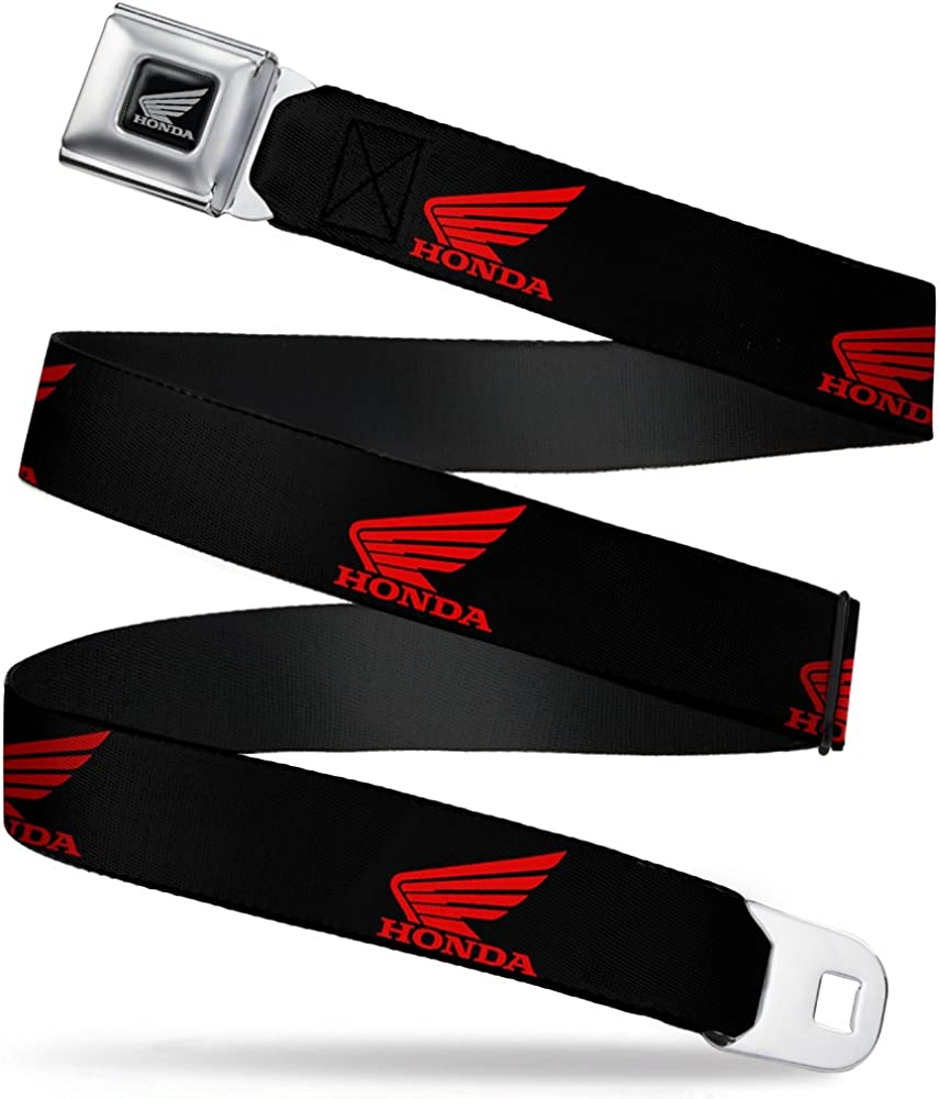 Buckle-Down Seatbelt Belt 20-36 Inches in Length 1.0 Wide HONDA Motorcycle Logo Black//Red