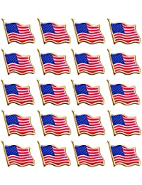20 PCS American Flag Lapel Pin United States USA Waving Flag Pins