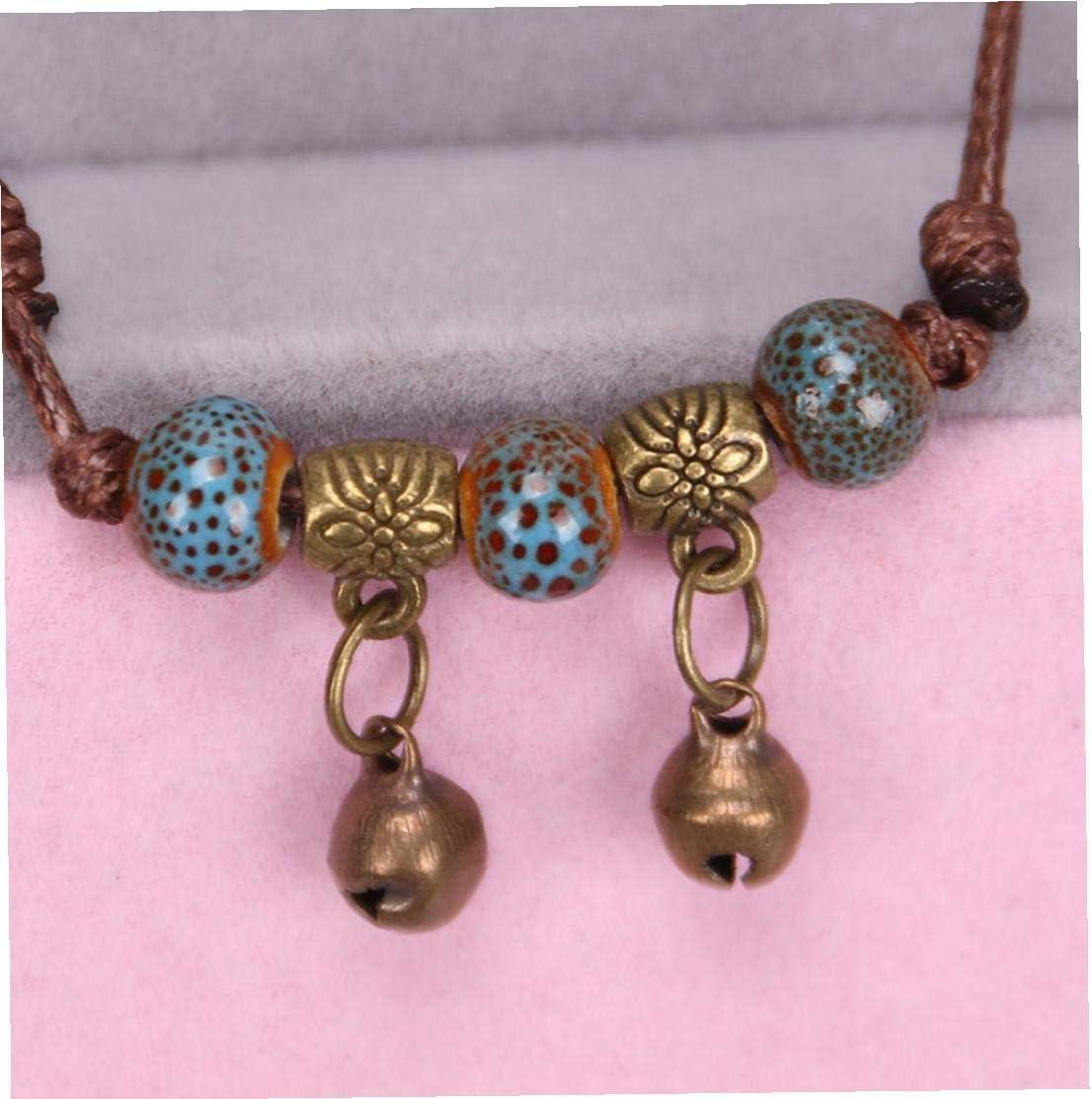 Les femmes /à la main artificielle en c/éramique Clochette Knit Bracelet cheville pour Anklet Beach Girls