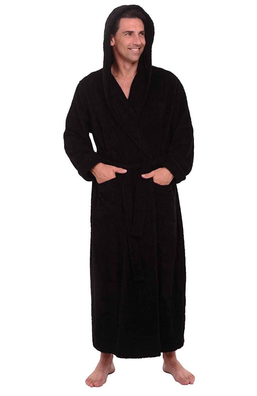 Alexander Del Rossa Mens Turkish Terry Cloth Robe 4658c3b79