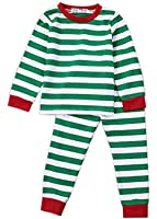 Toddler Boys Girls Stripes Two Piece Sleepwear Nightwear Pajamas Set