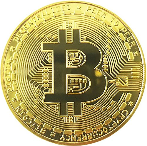 24k Commemorative Coin - Bitcoin Deluxe Gold Collector's Coin: Collectible Cryptocurrency | Real Gold Plated | Protective Display Case | Commemorative Gift