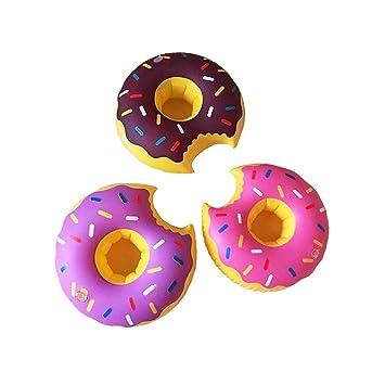 Aufblastiere Getränkehalter Flaschenhalter Aufblasbar Badespielzeug Pool Trinkhalter Donut