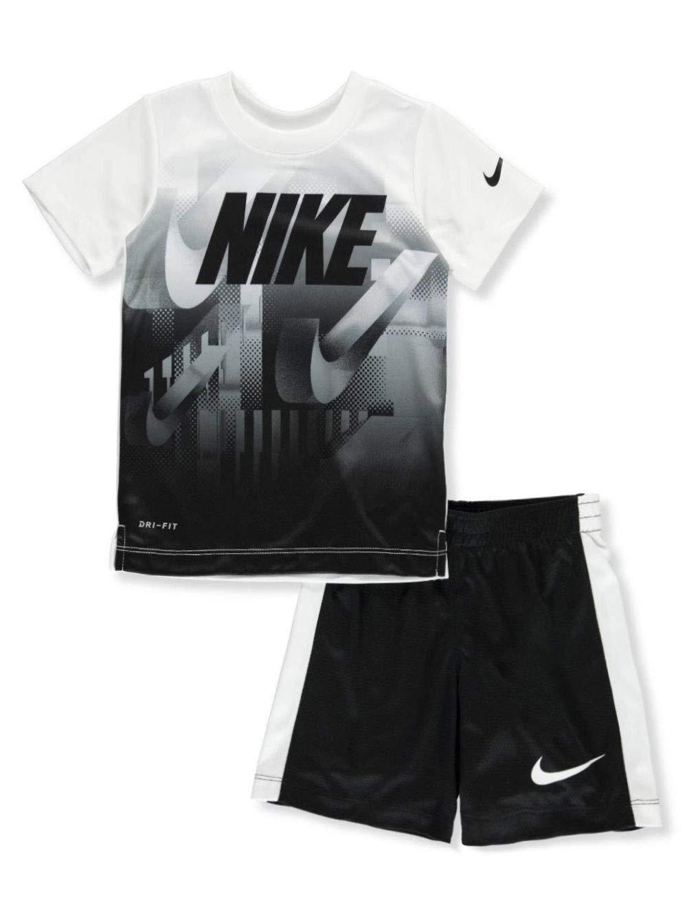 Nike Boys' 2-Piece Shorts Set Outfit - White/Black, 5