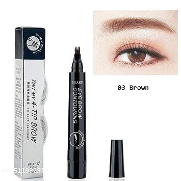 Amazon Com 4 Fork Tip Fine Sketch Enhancer Eyebrow Tattoo Pen