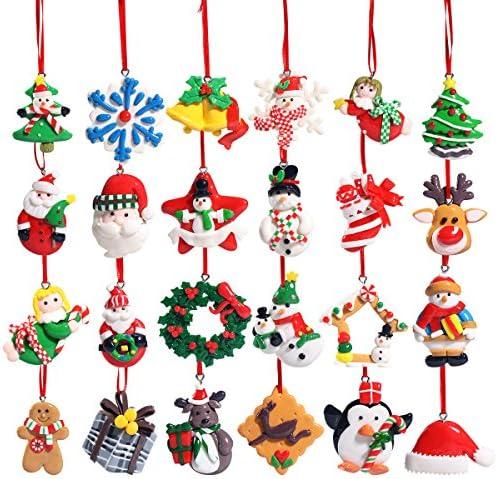 [해외]Unomor Christmas Countdown Advent Calendar ? Christmas Ornaments for Christmas Tree Decorations 24 Pieces / Unomor Christmas Countdown Advent Calendar - Christmas Ornaments for Christmas Tree Decorations 24 Pieces