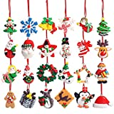 Unomor Christmas Countdown Advent Calendar – 24 Pieces Christmas Ornaments Decorations
