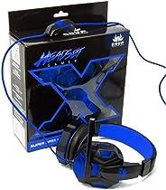 Headphone Gamer Fone com Microfone AZUL KP-397 KP-397 KNUP
