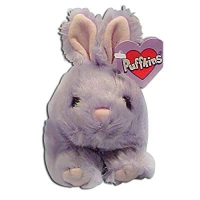 Puffkins Bumper Lavendar Easter Bunny Rabbit Bean Bag Plush: Toys & Games
