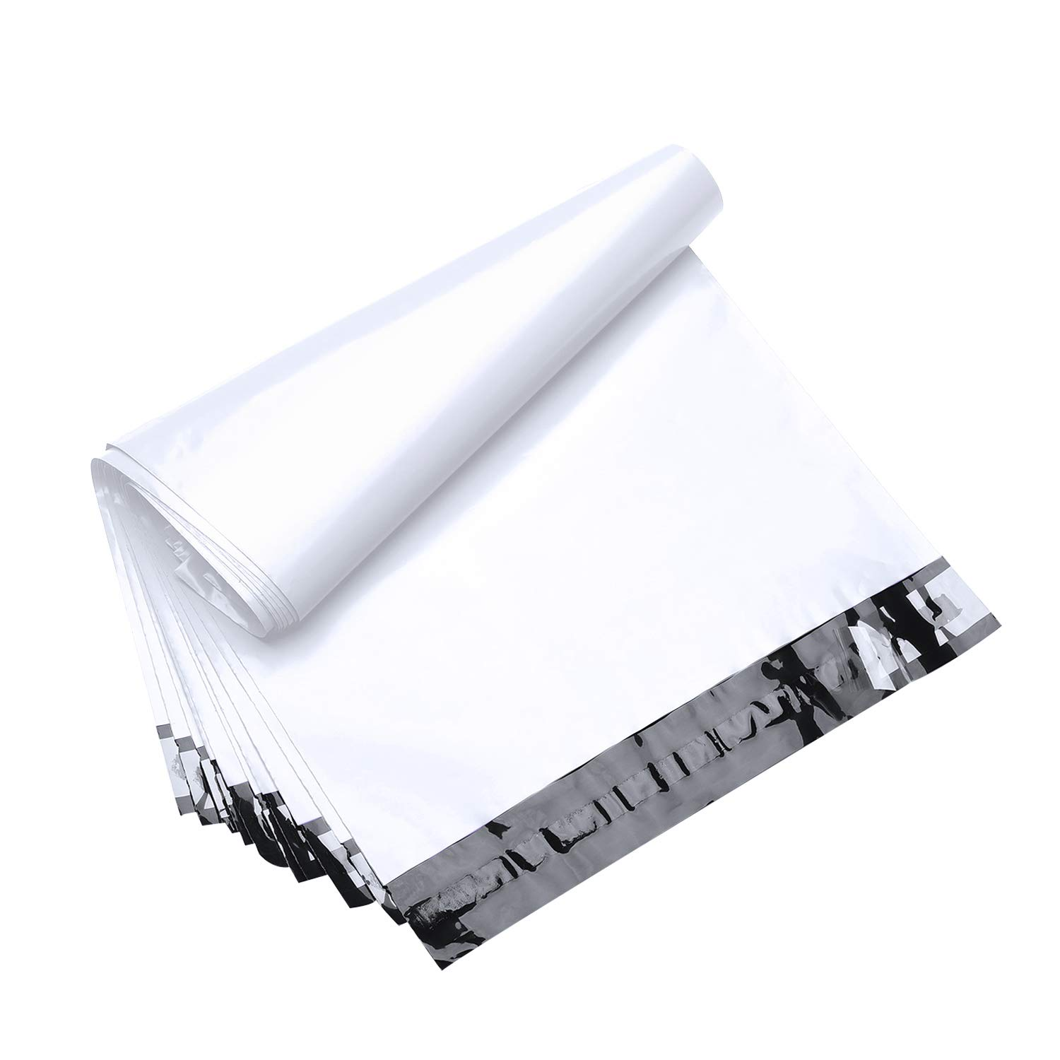 FU Global 200pcs 14.5x19 Poly Mailers Shipping Envelops Boutique Custom Bags Enhanced Durability Multipurpose Envelopes Keep Items Safe & Protected(White)