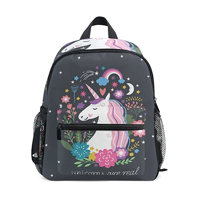 8cbc8e2aad0 DEYYA Mochila Ligera Unicornio Mochila Escolar Libro Bolsa para Niñas  Adolescentes Niños