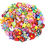 PP OPOUNT 120 Pieces Different PVC Shoe Charms for Shoes Bands Bracelet Wristband