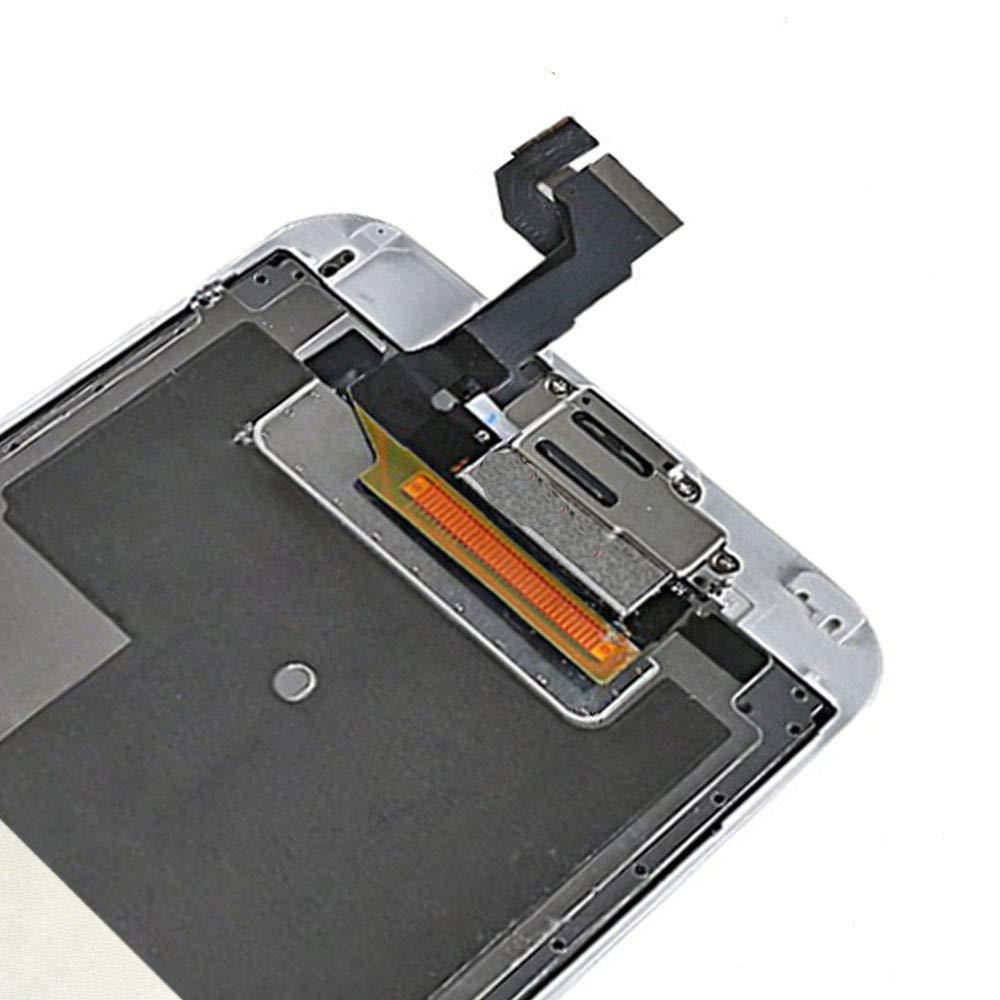 Frontkamera H/örmuschel N/äherungssensor LTZGO LCD Touchscreen F/ür iPhone 6S Wei/ß Display Ersatz Bildschirm Display Reparaturset Digitizer Assembly mit Werkzeuge Inklusive Homebutton