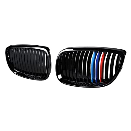 Amazoncom Astra Depot Set Glossy Black MColor LH RH Kidney - Bmw m colored kidney grille stripe decals