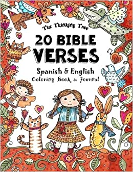 Book 20 Bible Verses- Spanish & English - Coloring Book: A Pocket Sized Coloring Book for Adults and Children