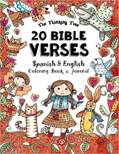20 Bible Verses - Spanish & English - Coloring Book: A Pocket Sized ...