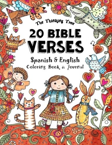 20 Bible Verses  - Spanish & English - Coloring Book: A Pocket Sized Coloring Book for Adults and Children