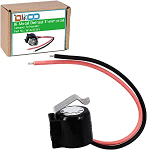 DIKOO W10225581 Refrigerator Bimetal Defrost Thermostat for Whirlpool Sears KitchenAid Kenmore Fridges Replaces 2321799, WPW10225581, PS11750673, 2149849,AP6017375