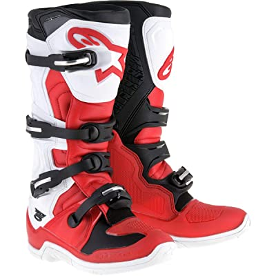 Alpinestars Tech 5 Boots - Red/White/Black - 15: Automotive