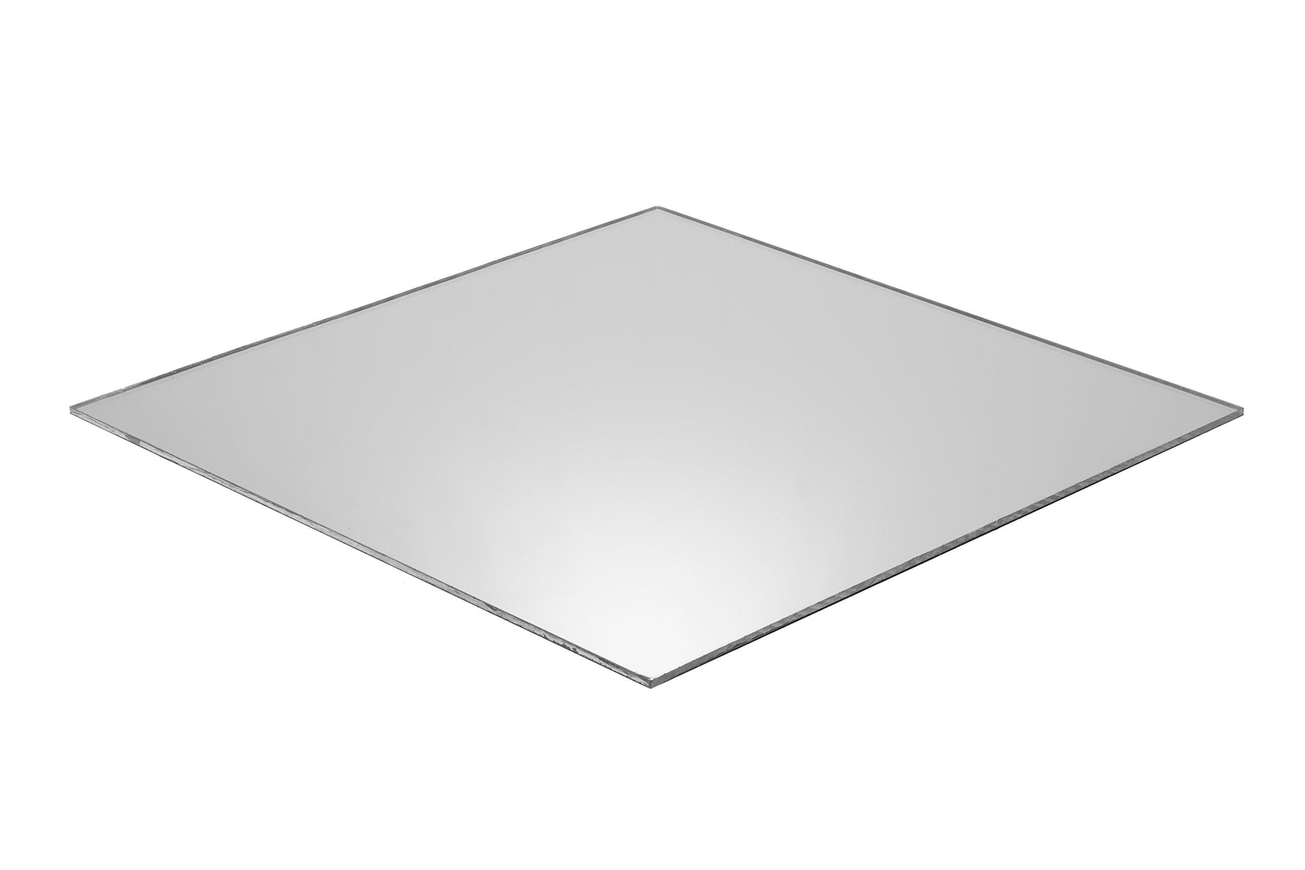 Falken Design Corporation MIR1-8/2436 Plastic Acrylic Plexiglas Lucite Acrylic Silver Mirror Sheet, 24'' x 36'', 1/8'' Thick
