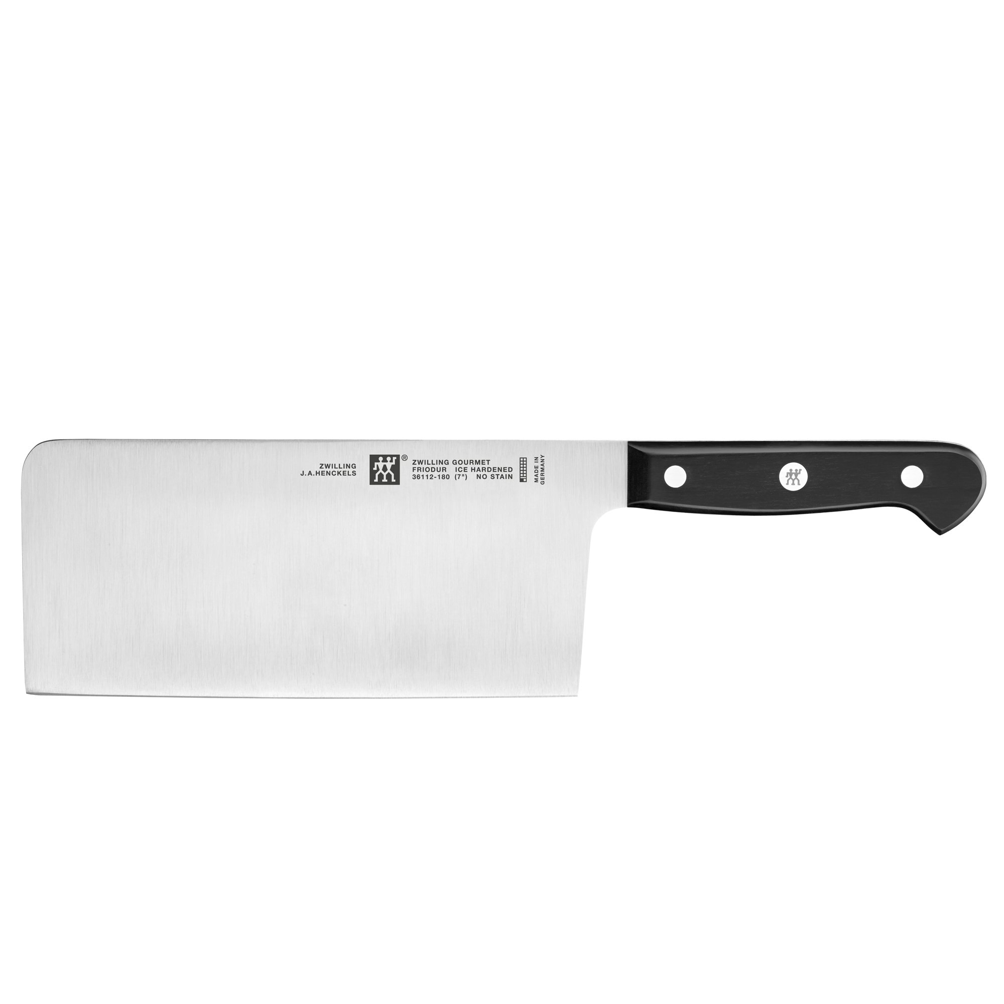 ZWILLING J.A. Henckels ZWILLING Gourmet 7'' Chinese Chefs Knife/Vegetable Cleaver,Black/Stainless Steel