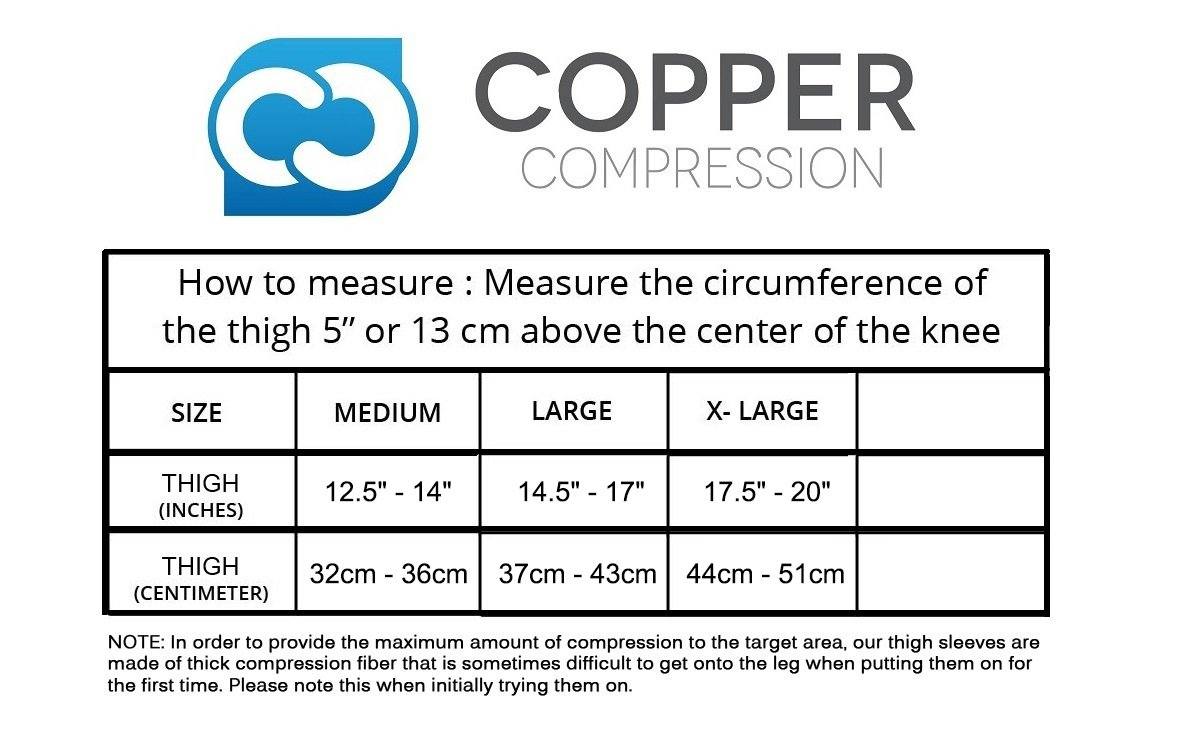 Amazon Copper Compression Recovery Thigh Sleeve For Sore