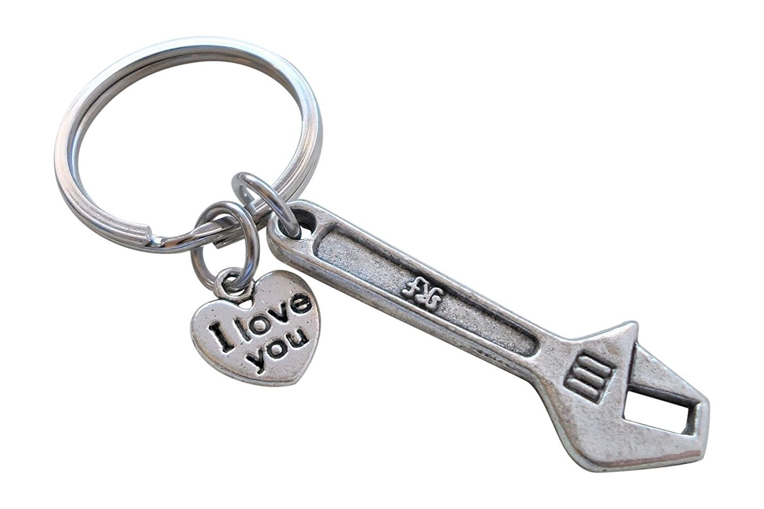 Wrench Keychain - My Dad Can Fix Anything; Fathers Gift Keychain JewelryEveryday 32914000342