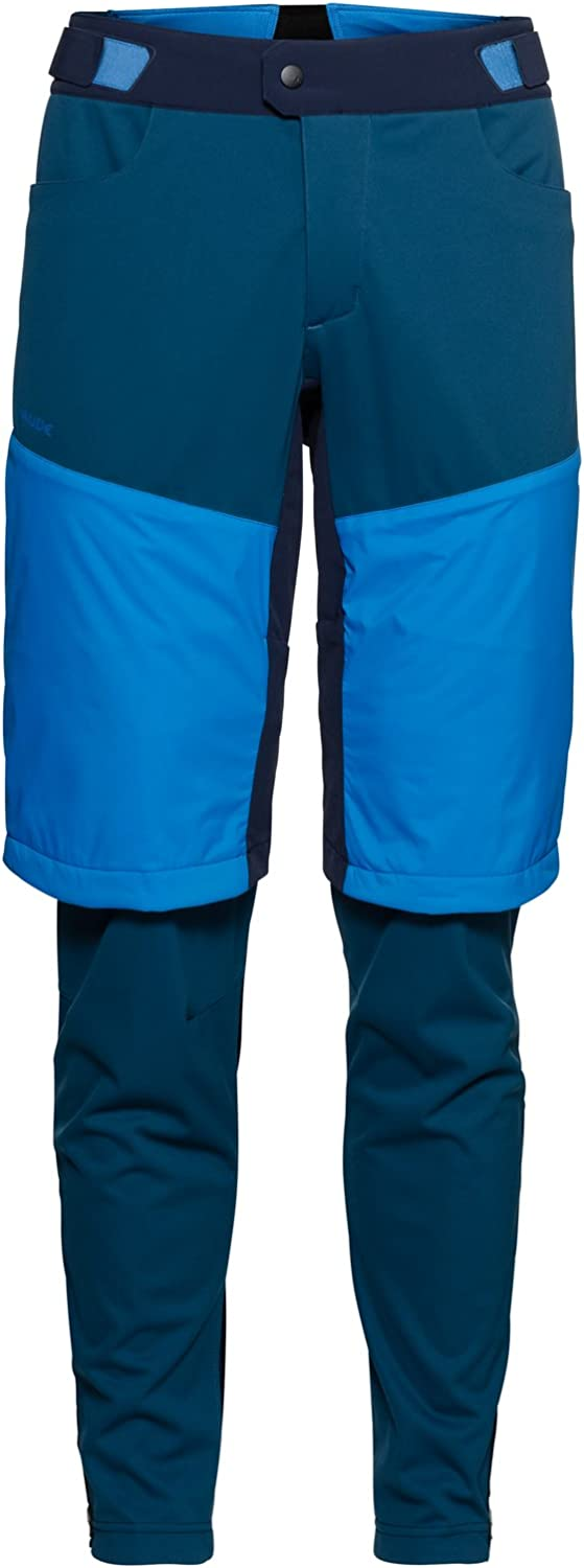 VAUDE Moab zo Pants L Pantalon de v/élo Homme ME All Year Radiate Blue