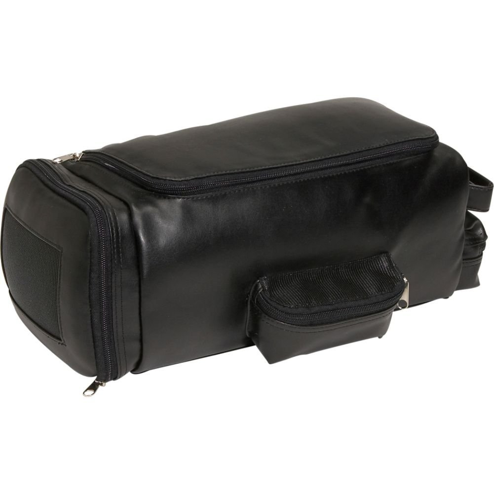 Royce Leather Travel Bag Storage for Shoes, Black