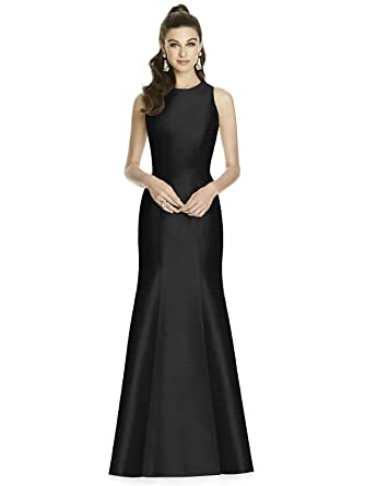 ae19369905 Amazon.com  Alfred Sung Style D734 Floor Length Dupioni Trumpet Skirt  Formal Dress - Open Back Sleeveless Jewel Neckline  Clothing