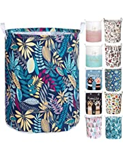 Merdes 19.7'' Waterproof Foldable Laundry Hamper, Dirty Clothes Laundry Basket, Linen Bin Storage Organizer for Toy Collection