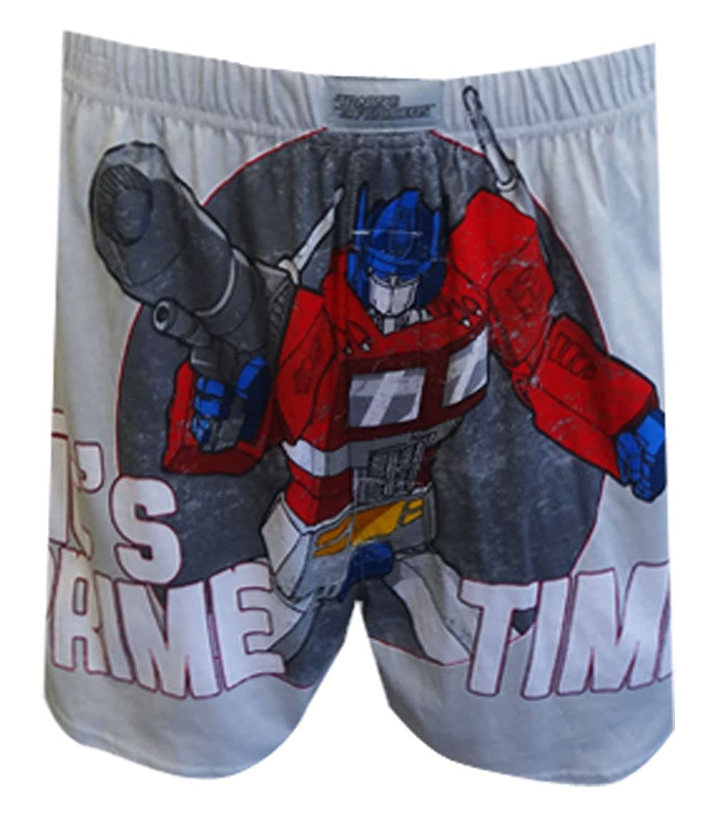 Transformers Optimus Prime Time Gray Boxer Shorts for men (Small) Briefly Stated T1002MBS