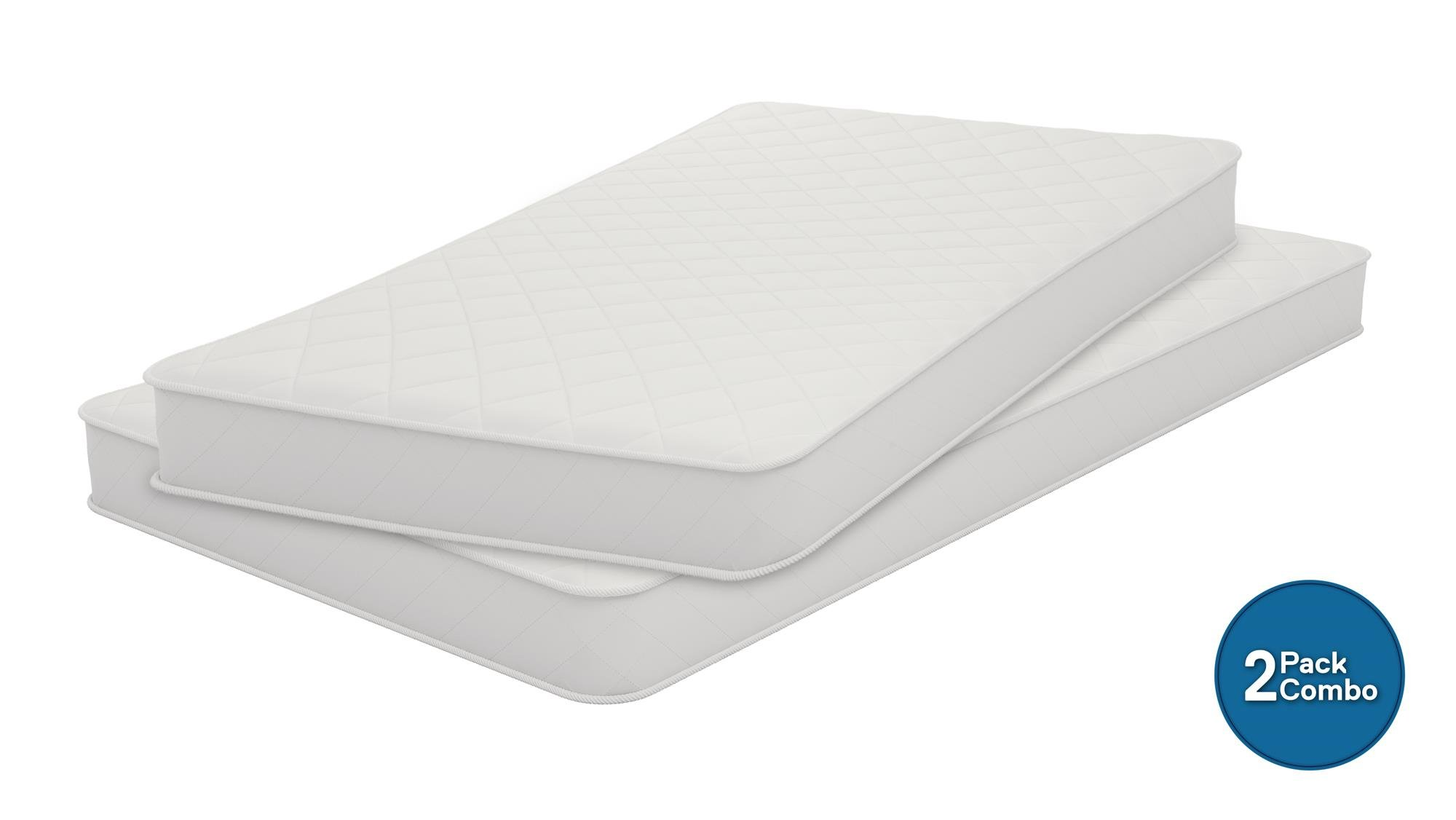 Signature Sleep 6'' Coil Mattress made with CertiPUR-US certified foam - Set of 2 Twin Size Mattresses