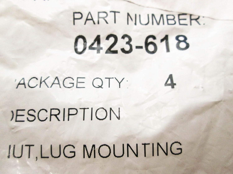 Arctic Cat 0423-618 NUT,Lug MOUNTING-Chrome 4 Pack