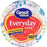 Great Value Everyday Premium Paper Plates 10 1/16'' 140 Count