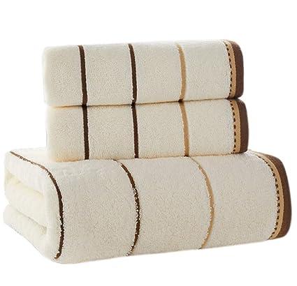 Juego de Toallas de baño de algodón Puro Toallas de baño de Uso doméstico de Tres