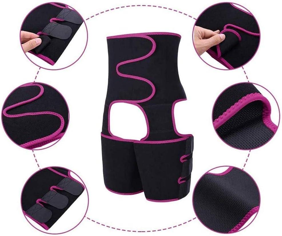 Sport Workout Waist Support Girdle Belt Slimming Body Shaper Belt Thigh Trimmer Shapewear for Women ROYAL WIND 3 in 1 Waist Trainer